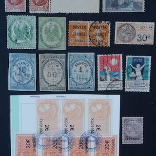 Frankreich - Lot of end of catalogue stamps and vignettes - Yvert