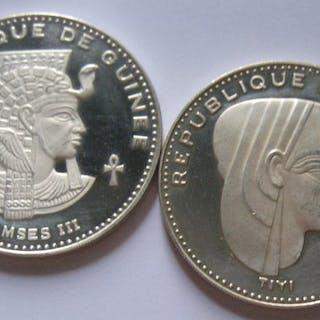 """Guinea - 500 Francs 1970 """"Ramses III"""" + 500 Francs 1970..."""