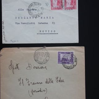 Italienisch-Somalia - lot of envelopes and postcards with...