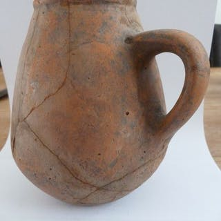 Ancient Roman Pottery (a56) drinking cup with 1 ear - 14×12×0 cm - (1)