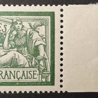 Francia 1907 - Merson 45 centimes green and blue - Yvert 143