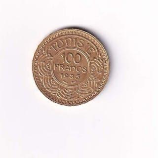 Tunisia - 100 Francs 1935 - Gold