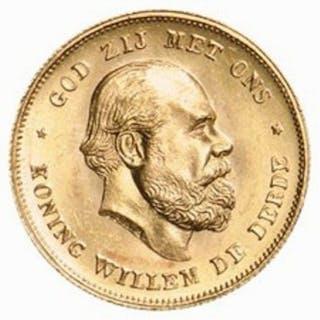 Paesi Bassi - 10 Gulden 1875 Willem III - Oro