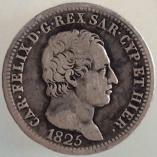 Italien - Königreich Sardinien - 1825 - 1 Lira Carlo...