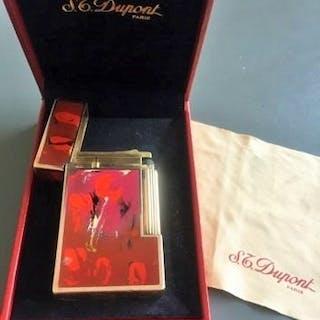 Dupont - Accendino - Lacca cinese placcata oro rosso 18, mobile, stoffa, opere
