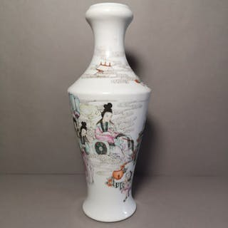 Bottle (1) - Famille rose - Porcelain - China - Late Qing