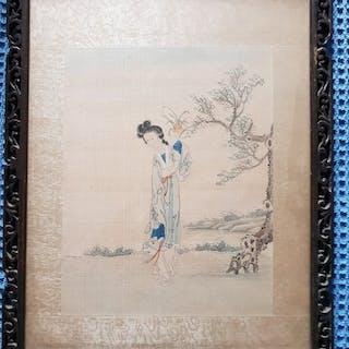 Gemälde (1) - Seide - Chinesische Schönheit - China - Qing Dynastie (1644-1911)
