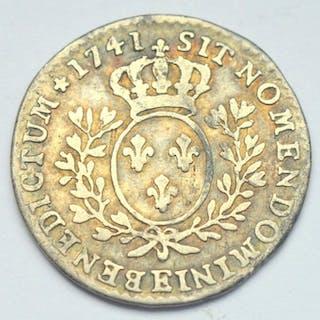 Frankreich - Louis XV - 1/10 Ecu 1741-E (Tours) - Silber