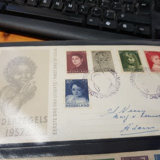 Niederlande 1953/1990 - Three FDC albums and six albums with stamp folders