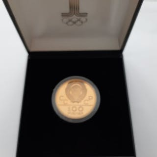 Russia - 100 Rouble 1978 'Moscow Olympics'- Gold