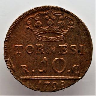 Italy - Kingdom of Sicily - 10 Tornesi 1852 - Ferdinando II (1830-1859)