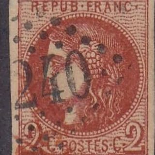 Frankreich - Bordeaux issue - 2 centimes brick red