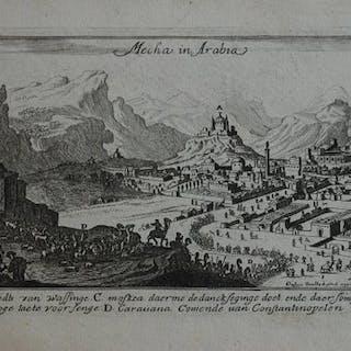 Saudi Arabien, Mecca; J. Peeters - Mecha in Arabia - 1681-1700