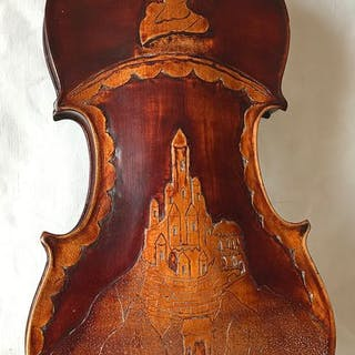 Labeled Ruggieri Francesco  - Violin Carved Back Copy - Violon - Italie