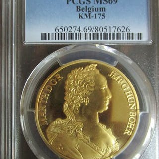 Belgium - 100 Ecu 1989 - PCGS MS69 - 1 oz - Gold