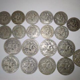 Portugal - República - 20 Itens - 2 ½ Escudos (9) & 5...