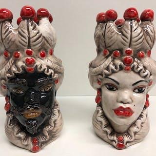 Caltagirone - Keramik-Objekt, Vase - Keramik