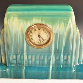Faïenceries de Thulin - Art Deco Uhr mit Tropfglasur - Keramik