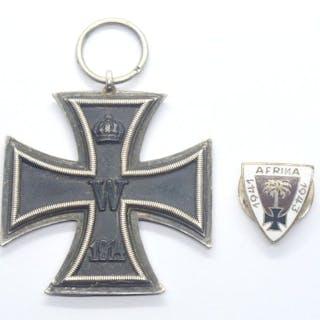 Deutschland - WW1 Iron Cross + Afrika 1941-1943 Abzeichen - Medallie