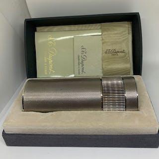 Dupont - Table lighter - Cylinder lighter diamond tip silvered of 1