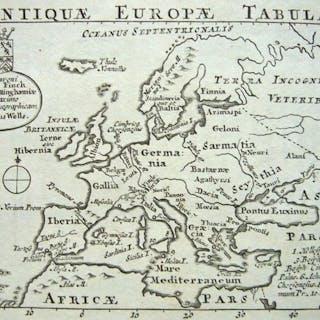 Europa; Edward Wells - Antiquae Europae Tabula - 1721-1750