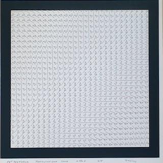 Henk Deylius - 89e zeefdruk - permutatieve serie van 5 zeefdrukken a t/m e