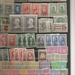 Francia 1942/1953 - Set of mint never hinged stamps from 1942/1953 from No