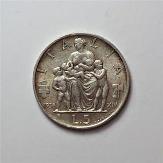 Italien - Königreich Italien - Vittorio Emanuele III - 5...