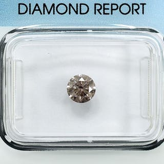 Diamond - 0.50 ct - Brilliant - Natural Fancy Light...