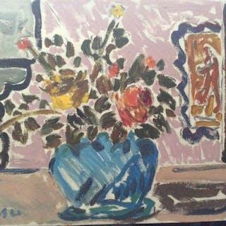 Settimio Sassu - Vaso di fiori