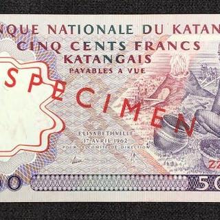 Katanga - 500 Francs 17.04.1962 - Pick 13s SPECIMEN