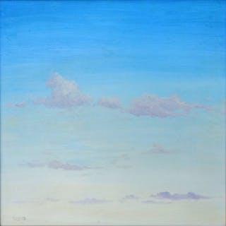 Juan Martínez Bruguera - Cielo con nubes II y Cielo sobre Ciudad (2 LOTES)