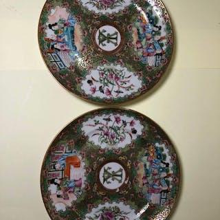 Piatto (2) - Porcellana - Cina - XIX secolo