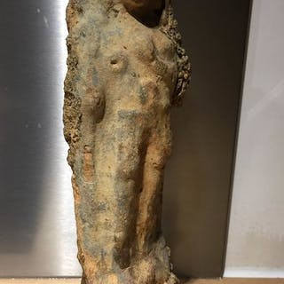 Phoenician  Terre cuite Statuette from Tyre (as commonly...