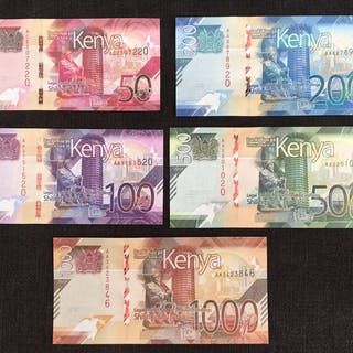 Kenia - 50, 100, 200, 500 and 1000 Shilling 2019 - Pick NEW