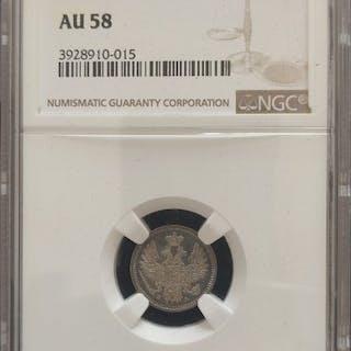 Russland - 5 Kopek 1850 Nicholas I in NGC Slab - Silber