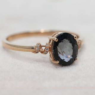 18 kt. Yellow gold - Ring - 1.55 ct Spinel - Diamonds