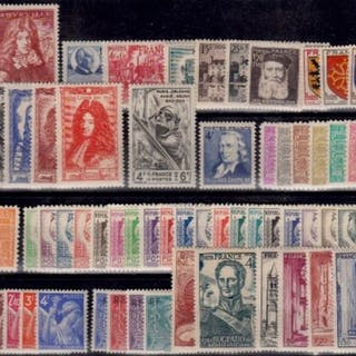 Frankreich 1944/1949 - Complete years 1944-1949 - Yvert 599/862