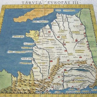 Frankreich; Ruscelli - Tabula Europae III - 1561-1580