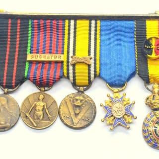 Belgien - 5 Miniaturmedaillen und Orden 1940-1945 - Auszeichnung, Medallie