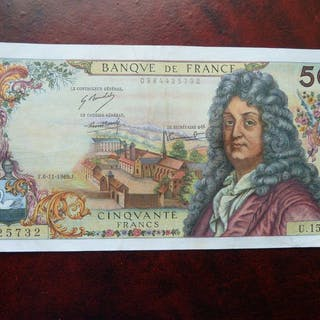 Frankreich - 50 Francs1969 - Fayette 64-15