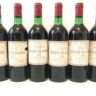 1985 Château Les Plantes - Graves - Bordeaux - 6 Flaschen (0,75 l)