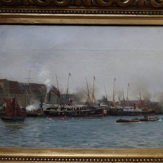 Holger Peter Swane Lübbers (1850-1931) - Im Alten Hafen von Kopenhagen