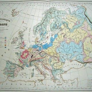 Europa; Malte-Brun - Carte Geologique D'Europe - 1821-1850