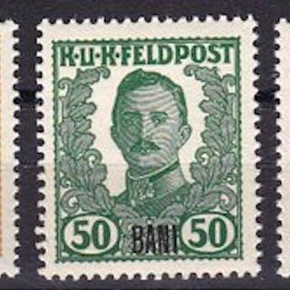 Austria-Ungheria - posta militare Romania 1918 - 5 stamps 1