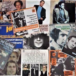 Simon & Garfunkel - Lot of 18 great singles in picture...