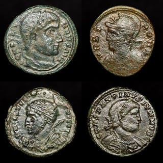 Römisches Reich - Great Lot comprising 4 AE coins: - Constantine I The Great
