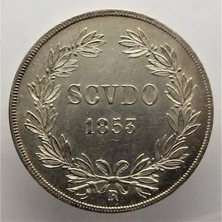 Vaticano - Scudo 1853 Anno VIII - Papa Pio IX (1846-1870) - Argento