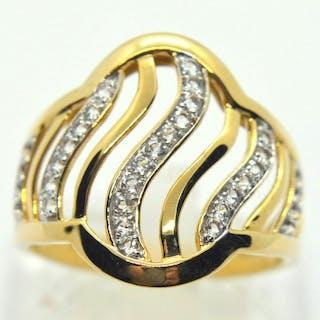 14 kt. Yellow gold - Ring - 0.10 ct Diamond