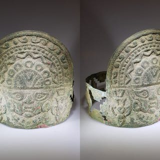 Sican Moche Copper Headdress Crown with Nylamp